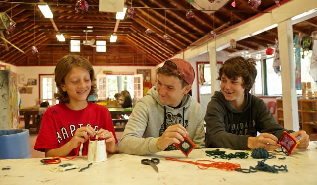 Boys at Arts and Crafts